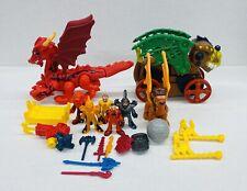 Imaginext Knight Figures Castle Parts Lot Weapons Armor Horse Sword Dragons