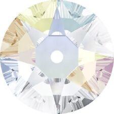360 Pietre SWAROVSKI LOCH ROSE art.3188 da cucire 1 foro - mm6 CRISTAL AB