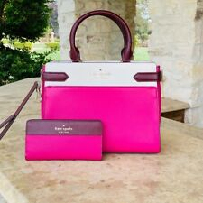 NWT KATE SPADE COLORBLOCK STACI CAMERON MD SATCHEL  BAG LEATHER/WALLET OPTIONS