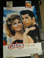 GREASE 20th Anniversary Movie Theater poster one sheet 27 x 40 1997 Travolta
