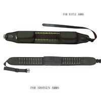Tourbon Shooting Ammo Belt Mag Pouch Shotgun/Rifle Shells Carrier Adjusted Green