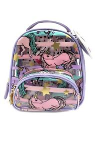 💋Luv Betsey Johnson LBSage CLEAR Unicorn Mini Backpack STADIUM APPROVED