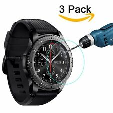 3 Pack Clear 9H Tempered Glass Screen Protector For Samsung Gear S3 Frontier