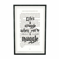 Art Print Harry Potter Struggle Muggle on Book Page from Philosopher's Stone
