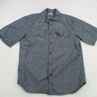Carhartt Mens Short Sleeve Button Front Shirt Medium Relaxed Work Wear Pockets