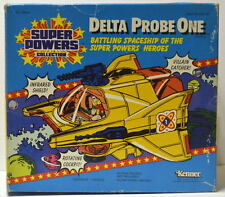 DELTA PROBE ONE w ORIGINAL DISPLAY BOX DECALS & BOOKLET 1985 Super Powers Kenner