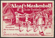 Artisti fisso/ballo in maschera Berlino 1928 | invito con firma | biglietto
