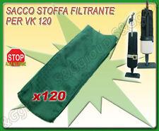 SACCO STOFFA COMPATIBILE VORWERK FOLLETTO  PER ASPIRAPOLVERE MODELLO VK 120