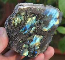 Natural Rough Labradorite Ore / Shine Fire not Polished Crystal From Madagascar