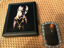 SET Tupac Shakur Cigarette Cash Case Black matching lighter New w Security Tags