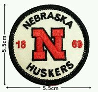 NEBRASKA HUSKERS 1869 NCAA Sports Patch Logo Embroidery Iron,Sewing on Clothes