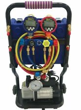 Refrigeration Charging Station with Vacuum Pump, Digital Scale & Digital Gauge