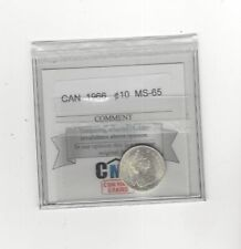 1966 , Coin Mart Graded Canadian,  ¢10  Cent, **MS-65**