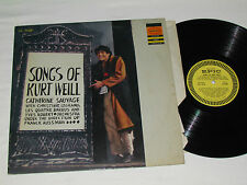 SONGS OF KURT WEILL LP Epic Records Canada CATHERINE SAUVAGE CHRISTINE LEGRAND