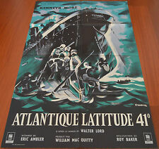 1958 A Night to Remember ORIGINAL VTG FRENCH MOVIE POSTER Titanic Walter Lord