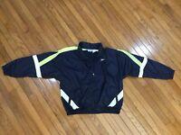 Vintage Reebok Blue Windbreaker Jacket Men's Full Zip Nylon Size XL