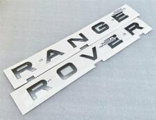 NEW GENUINE RANGE ROVER EVOQUE BONNET BOOT BADGE LETTERS *SHADOW GREY*