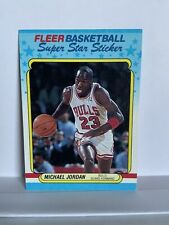 New listing 1988-89 Fleer Michael Jordan Sticker #7