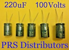 CAPACITOR 220uF 100V Radial Electrolytic Capacitor 220mF 220 uF GREEN 5 Pieces