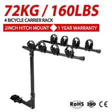 4 Bicycles Bike Rack Carrier For Car Rear Towbar 2 inch Hitch Mount