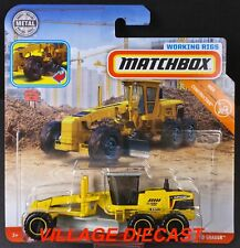 2019 Matchbox Working Rigs MBX Road Grader™ YELLOW / MTOR 689 SERIES / MOC