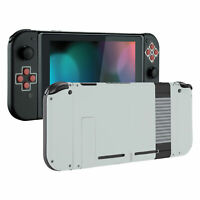 Soft Touch NES Style Console Back Plate W/ Controller Shell for Nintendo Switch