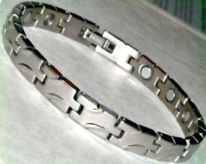 Mens PREMIUM Titanium Bracelet with HIGH ENERGY 3000 Gauss STRONG MAGNETS