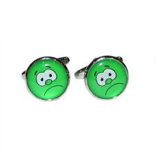 Green Funny Face Cufflinks X2boc134