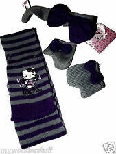 New Hello Kitty Kitten Mittens Scarf Design a Bear Set Present Gift Build Winter