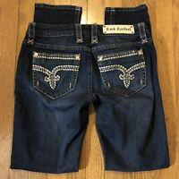 Rock Revival Women's Stretch Sherry Easy Skinny Denim Jeans Size 27 Embellished