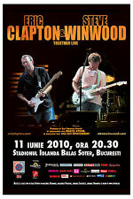 Eric Clapton & Steve Winwood European Concert Tour Poster