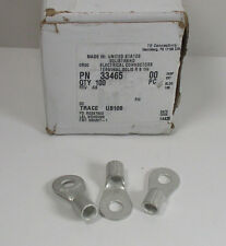 """(100) TE Connectivity 33465 Terminal, Ring & Spade 6 AWG 1/4"""" Stud Qty 100"""