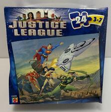Justice League Puzzle  24 Pieces  Mattel  2004  Ages 3-7