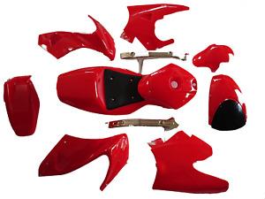 HMParts Verkleidung komplett rot Pocket Bike Mini Moto 50 ccm 2-Takt