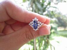 .36 Carat Diamond With Blue Sapphire White Gold Ring 18K sepvergara