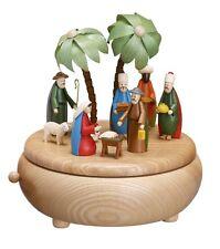 Carillon natura Nascita Di Cristo colorato Statue 18cm NUOVO Natale Minerale