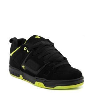 Mens DVS Gambol Skateboarding Shoes NIB Black Lime PU