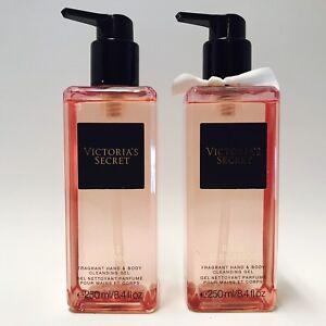 2 Victoria's Secret Rose Bergamot Fragrant Hand & Body Cleansing Gel 8.4 oz