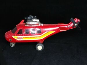 Old 1979 Tonka helicopter pressed steel Red