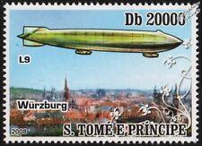 Luftschiff Zeppelin LZ.36 (L9) Airship Over WURZBURG (Würzburg, Germany) Stamp