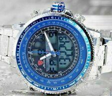 Men's Shark SH326N Blue Dial Quartz Analog / Digital LCD Dual Time Zone Watch