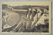 """CPA """" Barrage d' EGUZON - Déversoir rive gauche"""