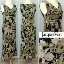Jacques Vert Maxi Dress Botanical Floral Print UK10 Summer Holiday~Races~Cruise