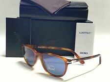 New PERSOL PO3019S 96/56 TERRA DI SIENA Havana/Crystal Blue 52mm Sunglasses