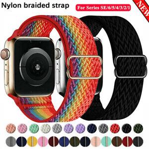 SOLO LOOP Sport Nylon Armband für Apple Watch Series 2 3 4 5 6 SE 38/40/42/44mm