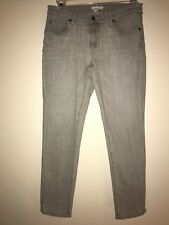 Eileen Fisher Skinny Slim Jeans Size 6 Stretch Gray Made in USA Women