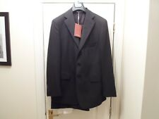 NEW ROMEO GIGLI BLACK PINSTRIPE 100% WOOL 3 BUTTON SUIT IT 50 UK 40 made ITALY