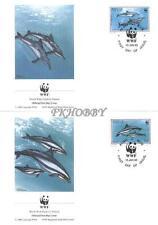 Niue 1993 Mi FDC 822-25 WWF Animals Pets Tiere Zwierzęta Dolphins Delphine