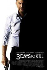 THREE DAYS TO KILL - 2014 - Orig 27x40 D/S REG movie poster - KEVIN COSTNER