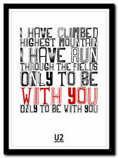 More details for u2 - i still haven't found what i'm looking for - poster art print - 4 sizes